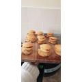 Katelyn has made Victoria sponge between fruit scones