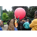 The big red balloon used for mapping