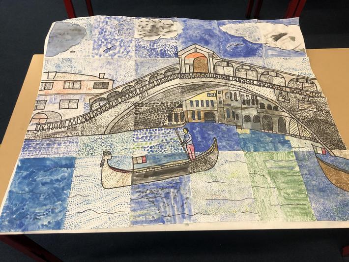 Year three's Rialto Bridge from the grand canal