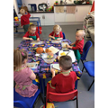 Busy children with their chopping