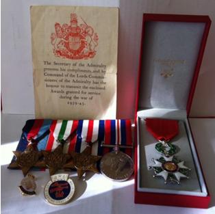 Mia's Great Grandad's medals