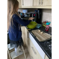 Ella has used a recipe without any eggs in them!