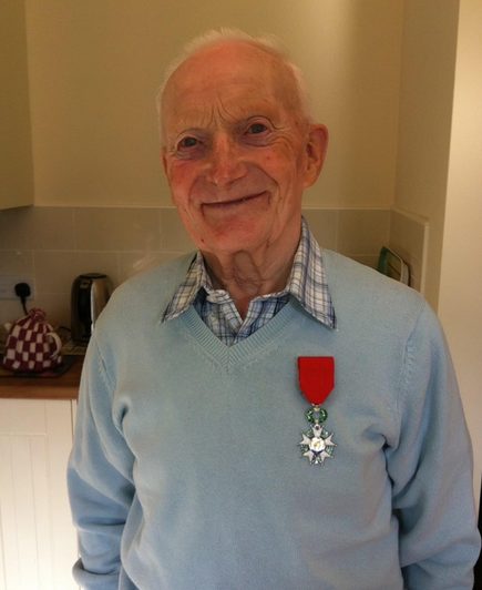 Douglas was presented with a medal by Prince Charles 2years ago for his efforts in WW2