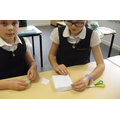 Year 6 making boats and testing them.