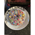 Niamh Dale's smartie cake