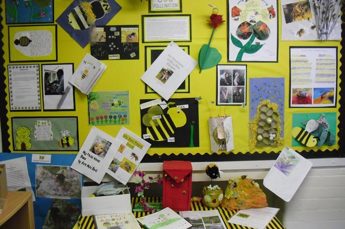 Whole school summer homework display Polli:nation