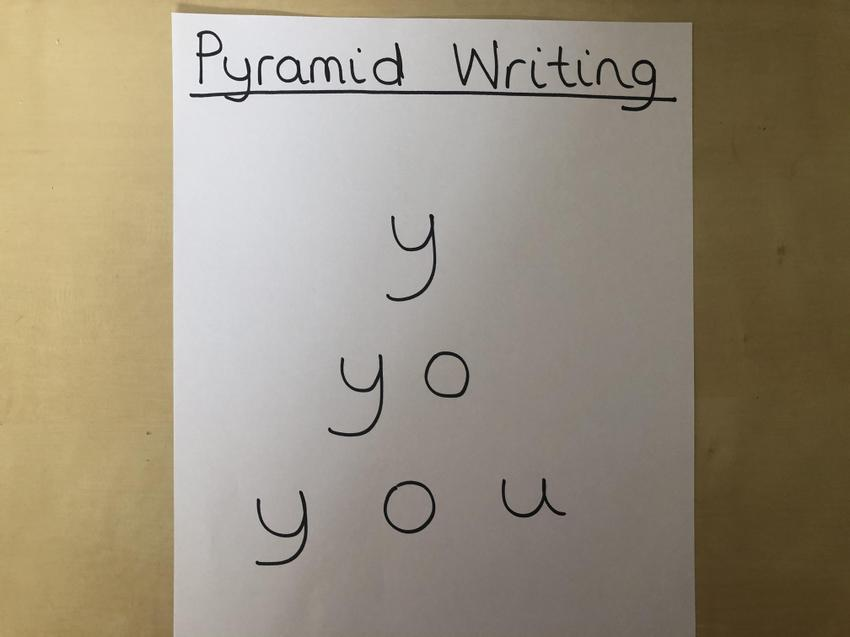 Pyramid Writing: Introduce 1 letter at a time