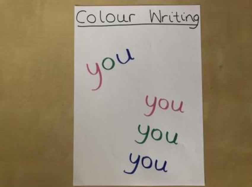 Do some rainbow writing to help memorise the words
