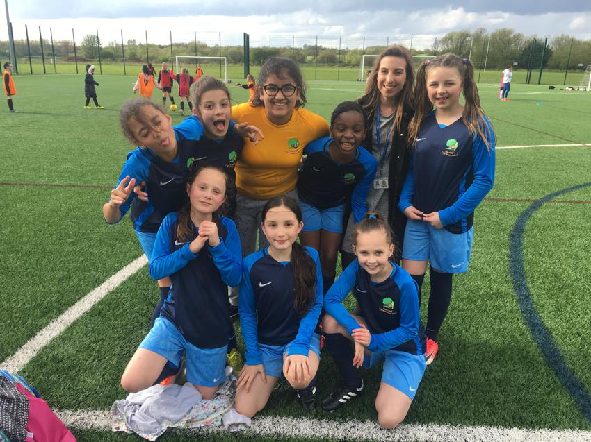 Huge well done to the girls football team