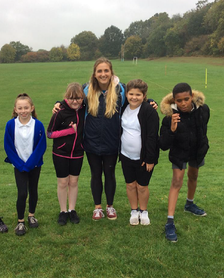 Biathlon competition runners 15th October 2018