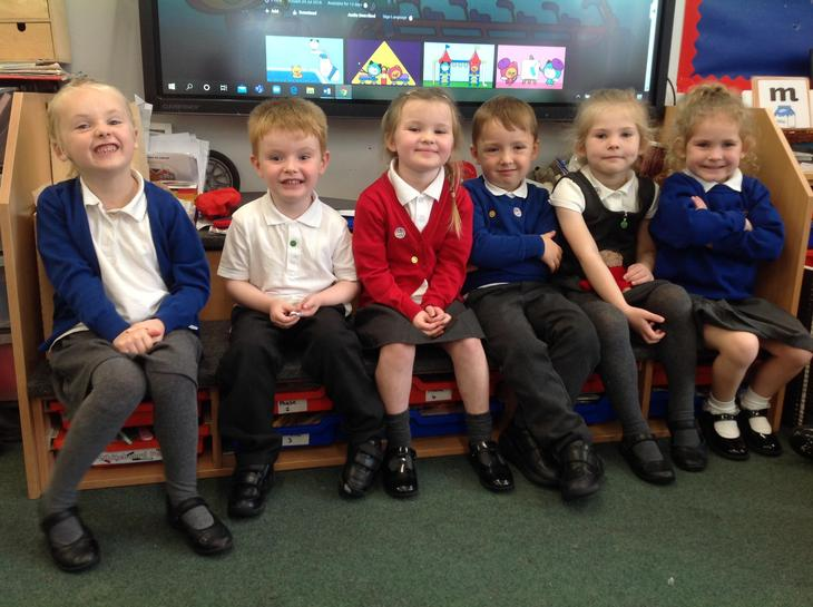 Well done to our first six children in our Gold Book from Class R.