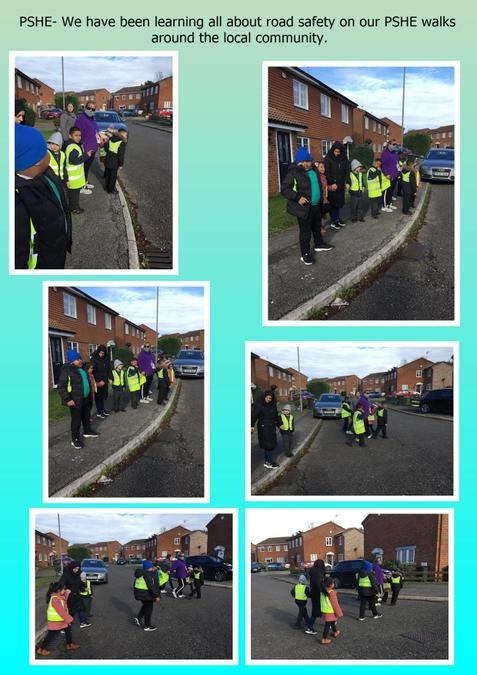 Learning all about road safety in our PSHE lessons