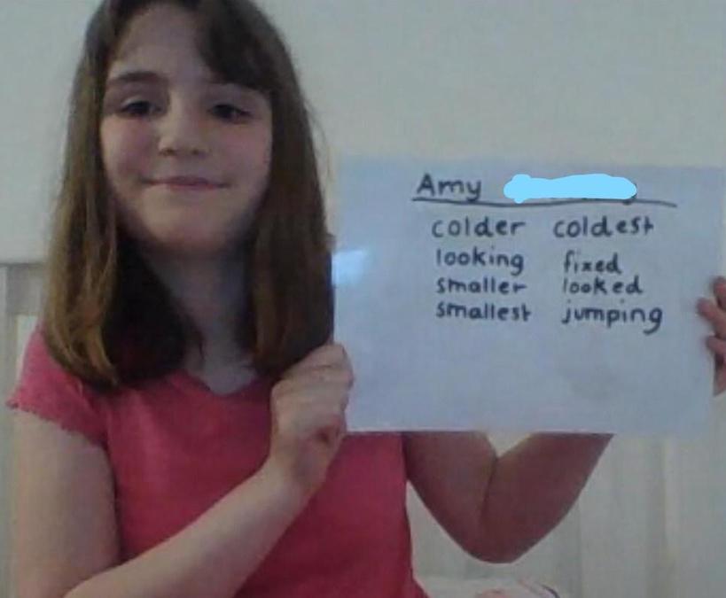 Amy - ing, er, ed, est endings