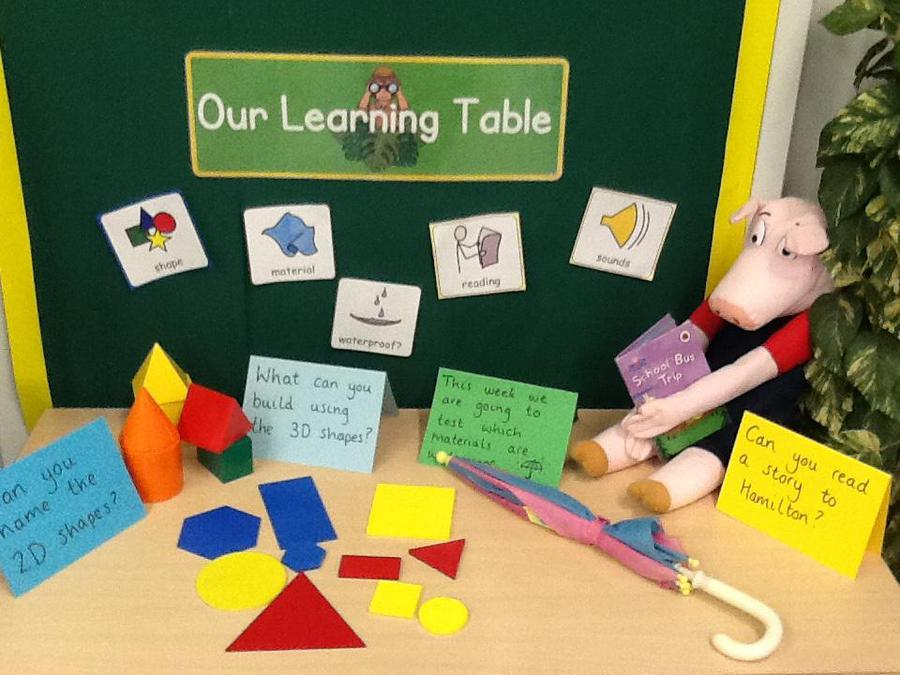 This is our learning table!