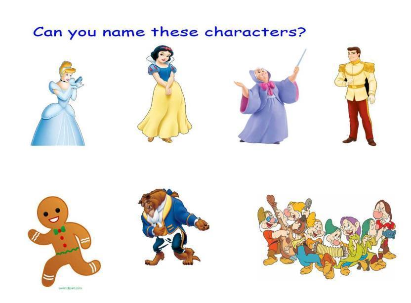How familiar are you with these characters?  Which tale are they from?