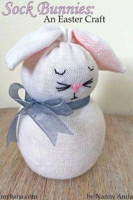 Cute, Easter bunny sock!