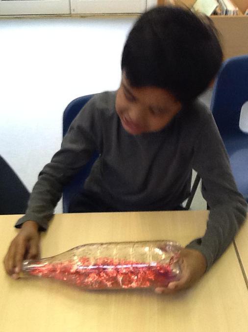 Exploring our sensory bottles