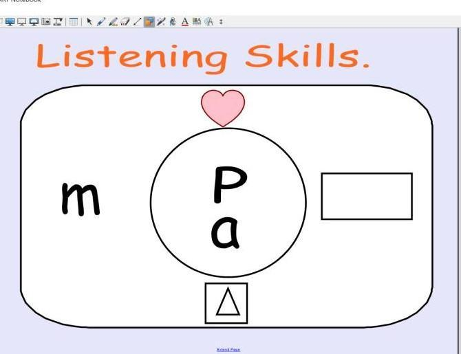 Listening skills will be developed and practised!