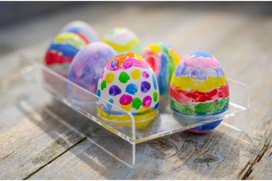 Hard boiled Easter eggs - make sure you boil them first before decorating.