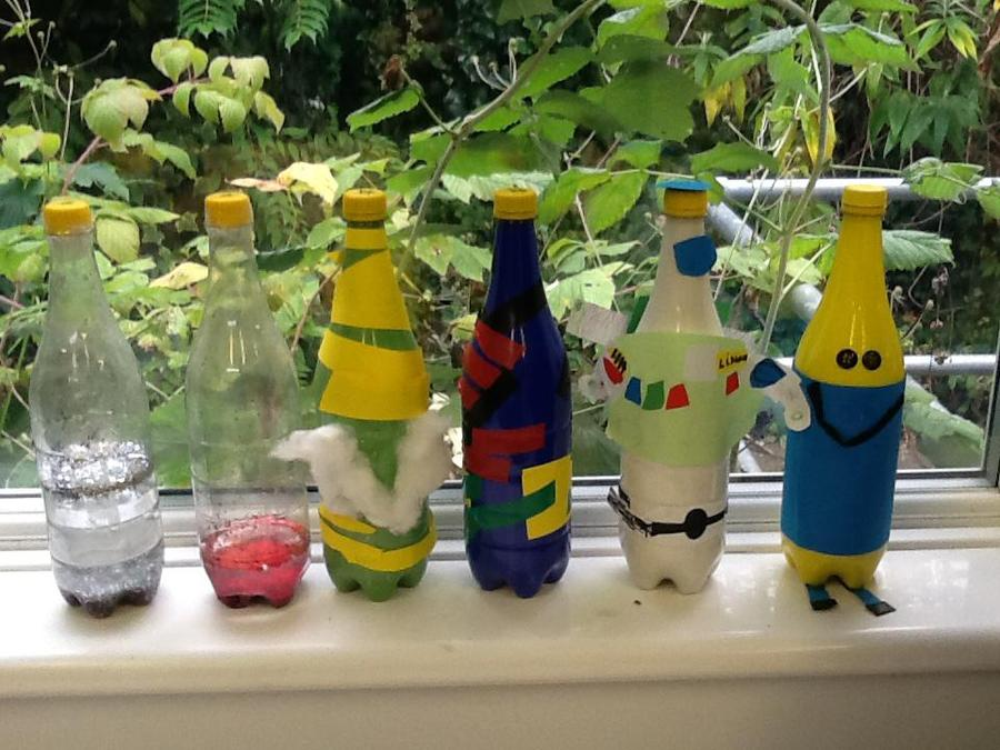 Our finished plastic recycled bottles!!!