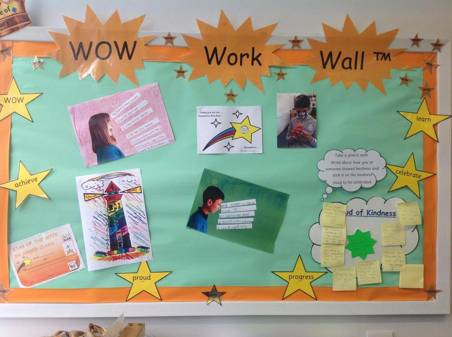 WOW Work Wall which is at the front of the classroom for everyone to see.