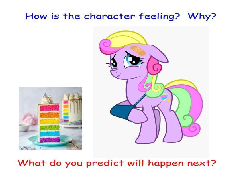 Empathising with characters?  What do you think happened? What do you predict will happen?
