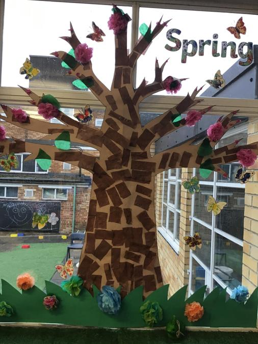 We decorated a tree for our Class Display