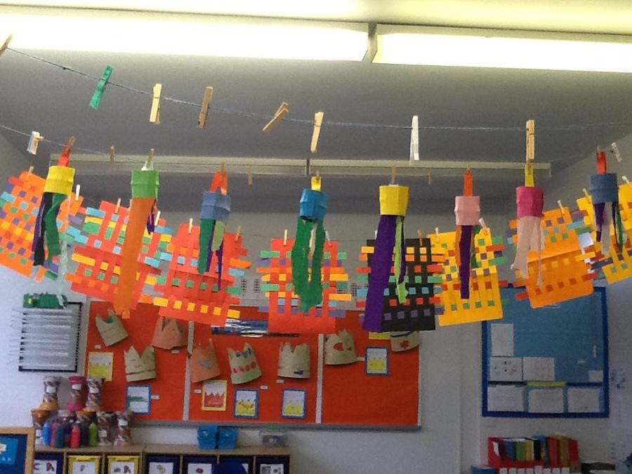 Our paper weaving and paper lanterns