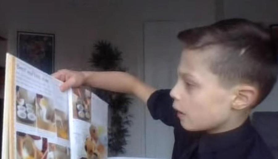 Alfie sharing his favourite book - communication skills