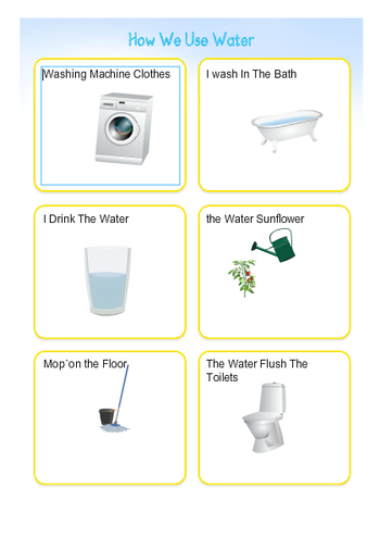 What we use water for