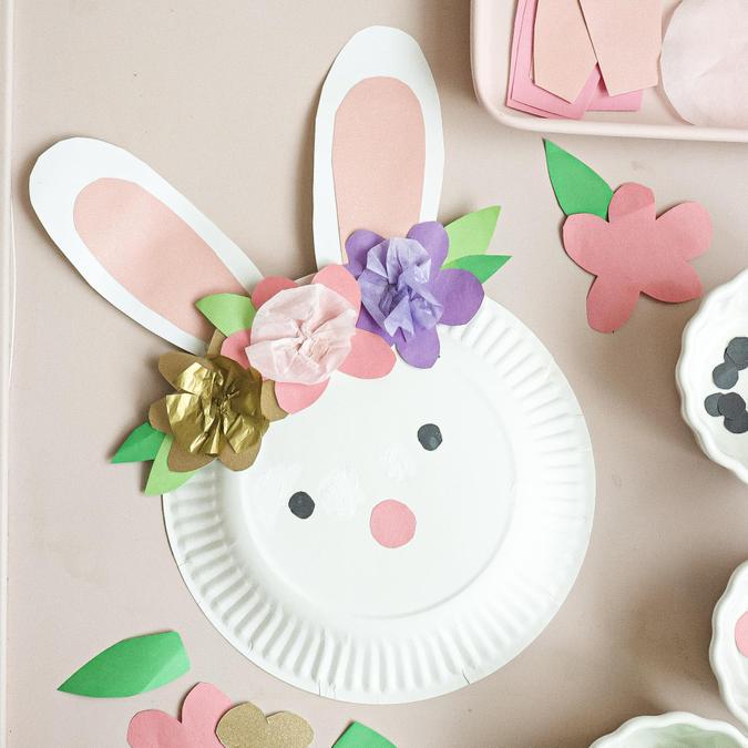 Easter bunny plate design idea.