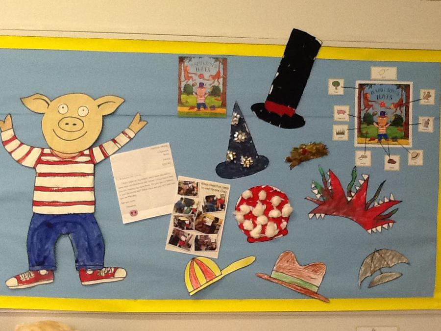 Our English display- Hamilton's Hats!