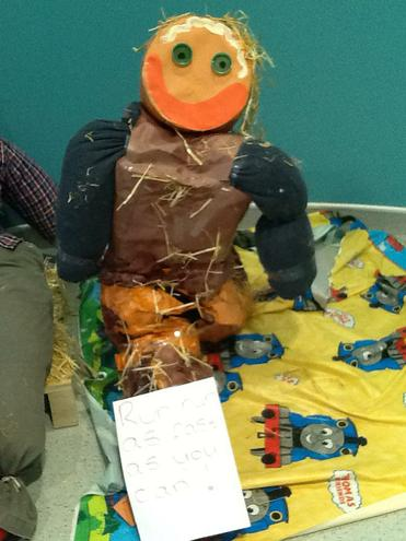 The finished scarecrows