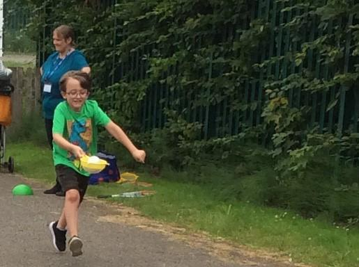 Green Team Egg and Spoon Race