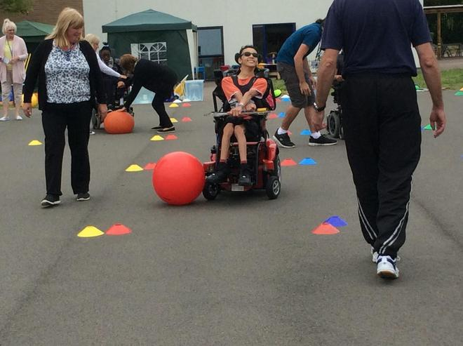 Wheel Chair football race