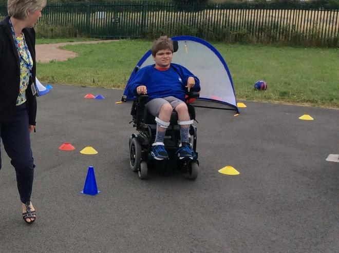 Wheel Chair slalom race