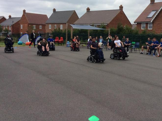 Wheel Chair sprint race
