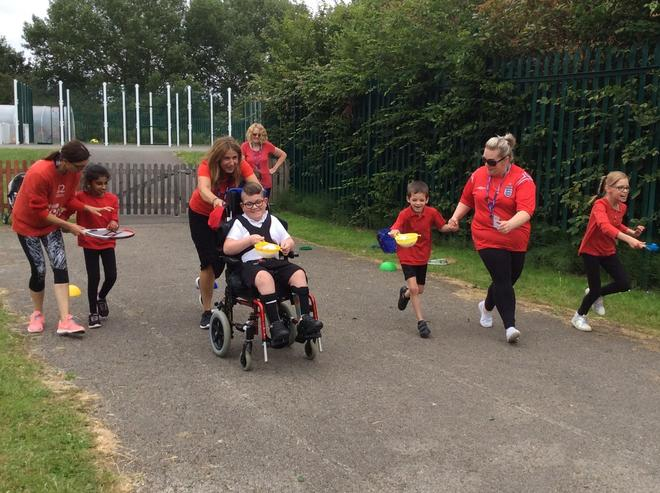 Red Team Egg and Spoon Race