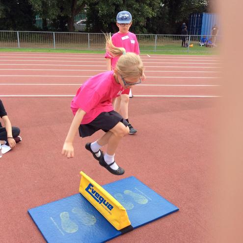 Athletics outdoors. How high can you go!