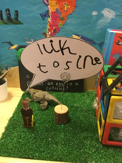 """Purposeful writing in child initiated play - """"I like to sing"""""""