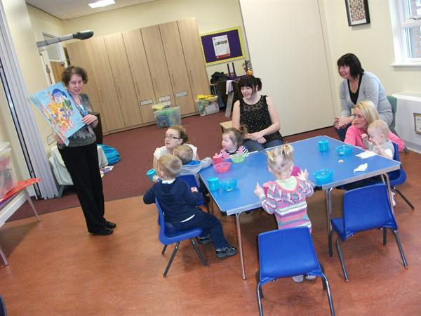 Reading begins early in our Under 3s Playgroup