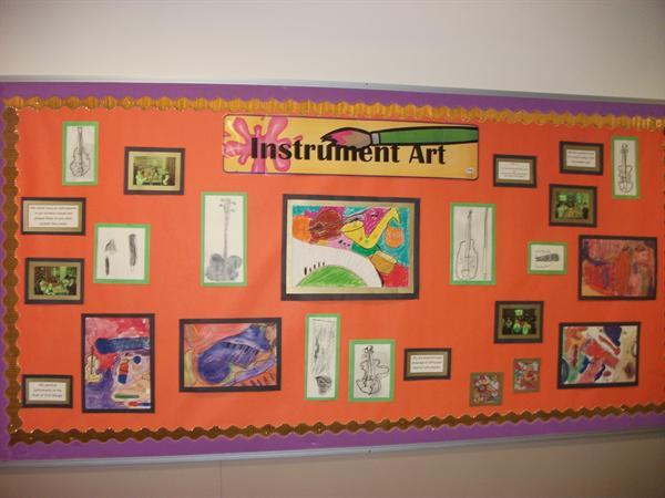 Our musical display of art work