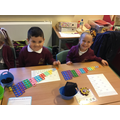 The children were challenged to build a Numicon to 10 staircase.