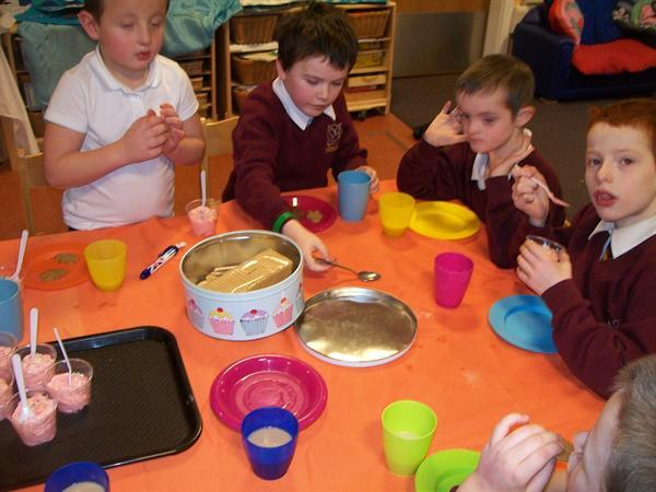 Afternoon tea in Rose Class