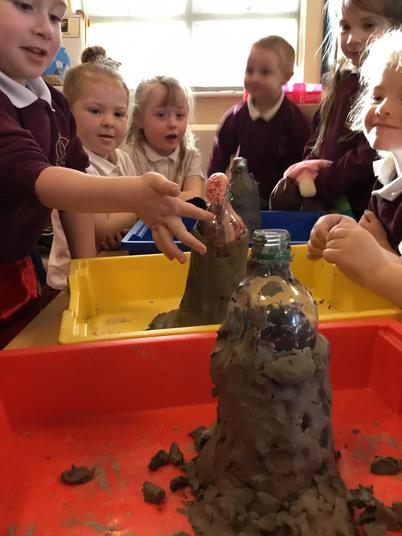 Making a Volcano!