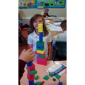 Building and stacking 3D shapes