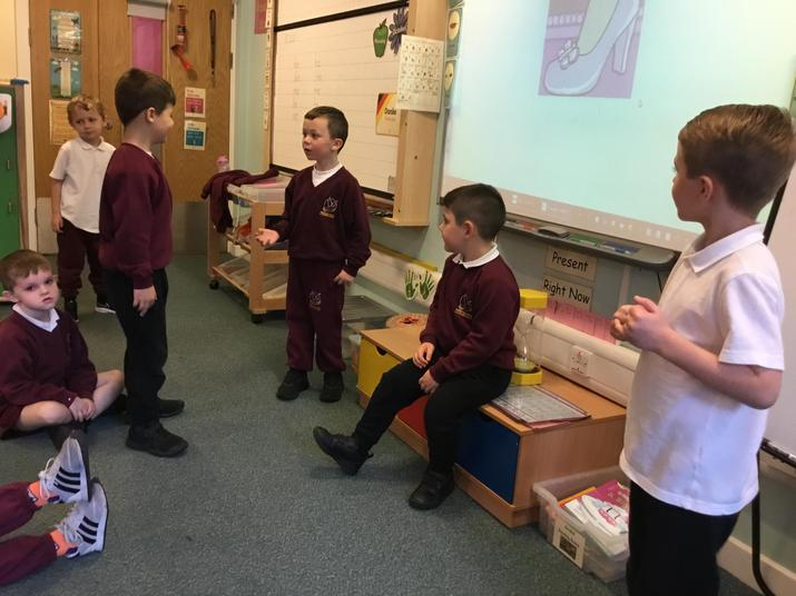 We had so much fun acting out key events from Cinderella.
