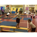 The children love practising their balance skills.