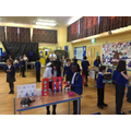 KS2 children preparing for the fair