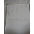 Lengths in descending order using 2 cm differences